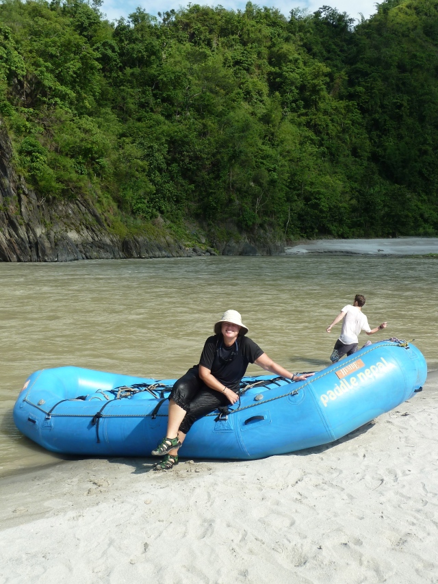 Rafting with paddle Nepal
