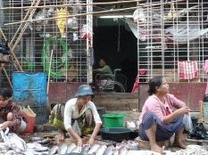 market scene in Yangon