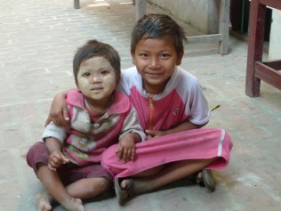 Thanaka painted kids
