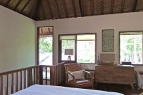 Tree house bedroom in owners villa